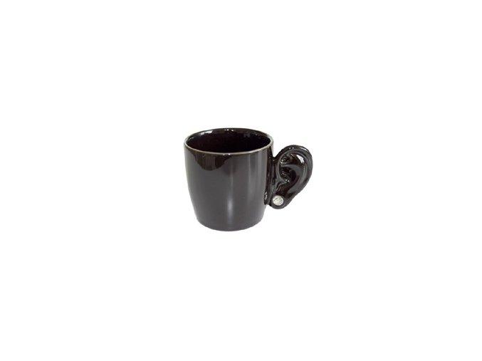 INVOTIS Hrnek s ouškem Ear Cup, černý