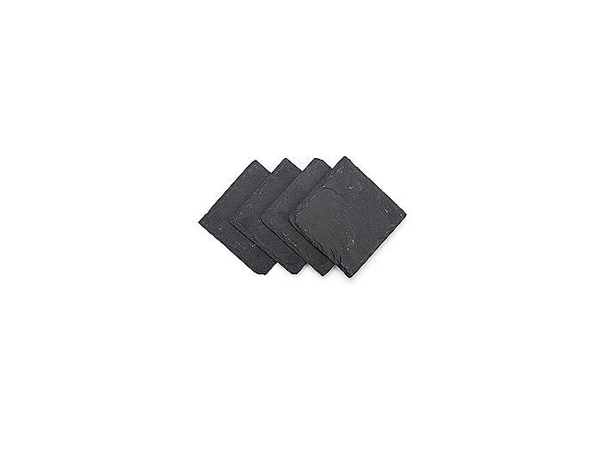 Břidlicové podložky INVOTIS Slate Coasters, 4ks
