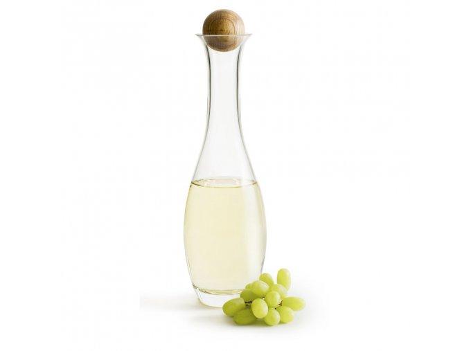 SAGAFORM Karafa s dřevěnou kuličkou Nature, bílé víno, 1 L