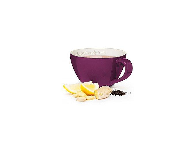 SAGAFORM Šálek XXL I love my tea, 0,7 L, fialový
