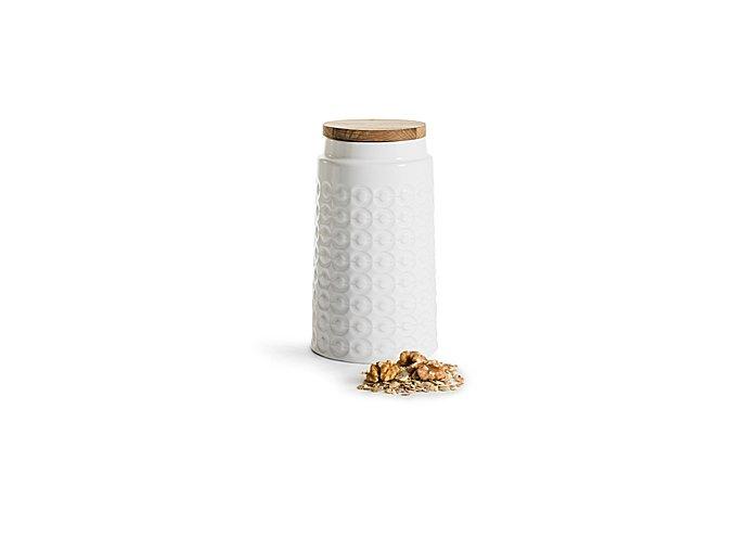 SAGAFORM Porcelánová dóza Nature, velká, 1,2 L