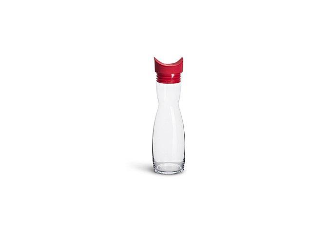 Karafa s nálevkou SAGAFORM Flip 1 L, červená