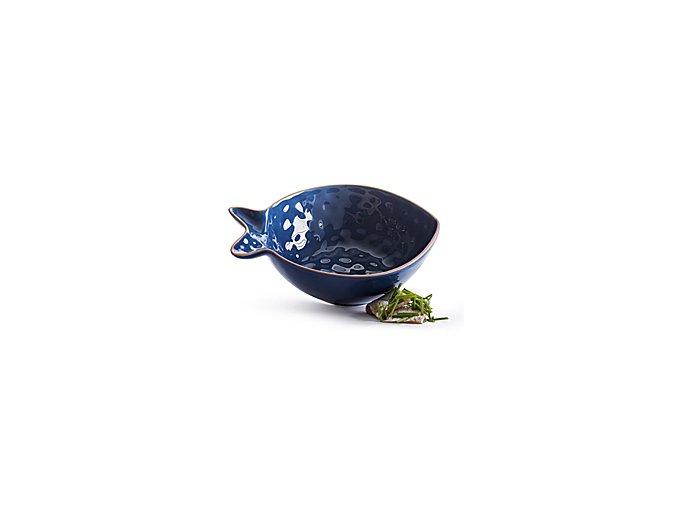 SAGAFORM Servírovací miska Fish, malá, modrá
