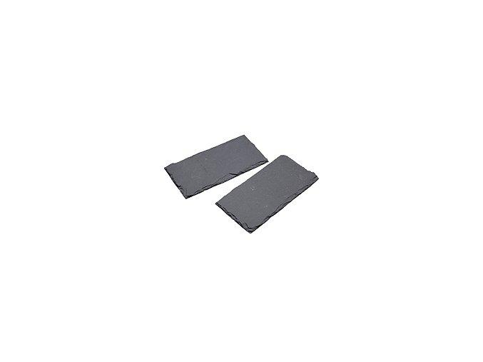 Břidlicové podložky KITCHEN CRAFT Artesa / Slate Serving Mats, 20 x 10 cm, 2 ks