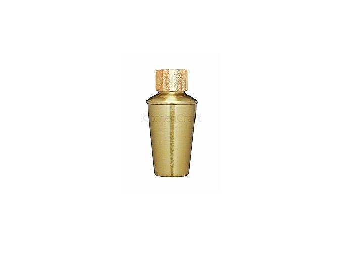 Šejkr KITCHEN CRAFT Bar Craft / Mini Shaker, 250 ml, mosaz / akácie