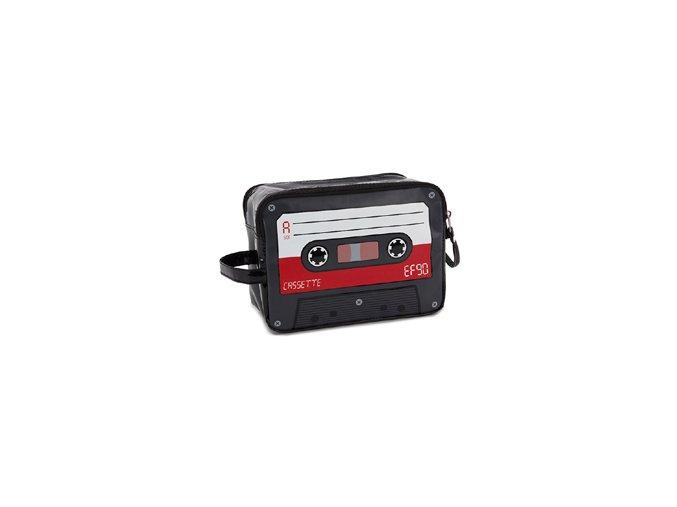 BALVI Cestovní taštička na toaletní potřeby Cassette, červená