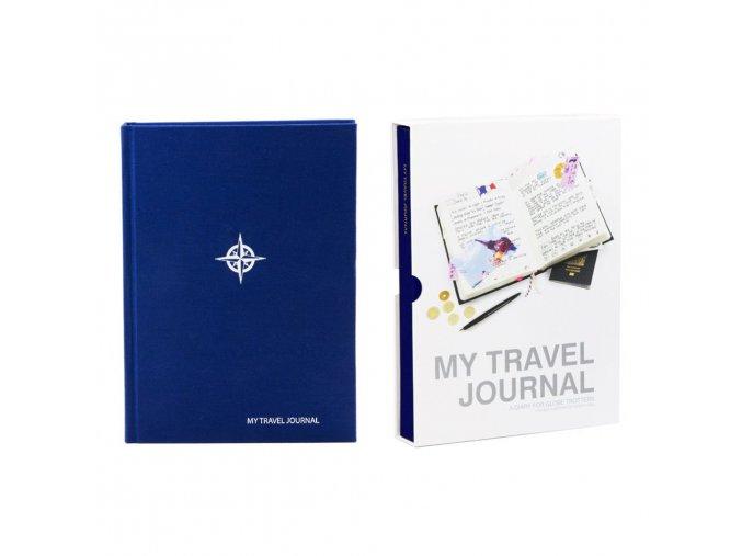 SUCK UK Cestovní deník My Travel Journal, modrý