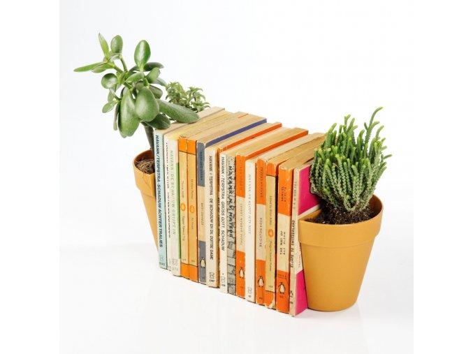 32063 knizni zarazky kvetinace plant pot bookends