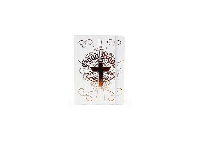 SUCK UK Likérka v bibli Flask In A Book, bílá