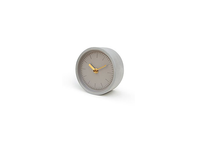 SUCK UK Hodiny Concrete Clock, šedé