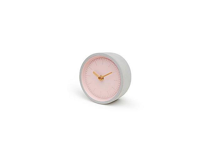 SUCK UK Hodiny Concrete Clock, ružová