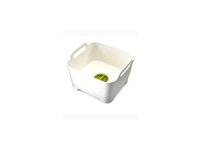 Mycí nádoba s odtokovým uzávěrem JOSEPH JOSEPH Wash&Drain™, bílá