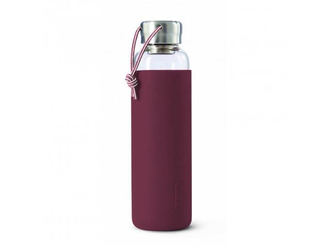 31760 31760 2 sklenena lahev na vodu black blum glass water bottle vinova