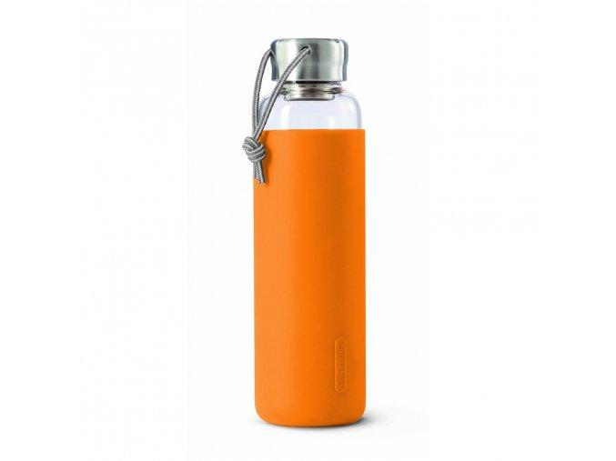 31757 31757 2 sklenena lahev na vodu black blum glass water bottle oranzova