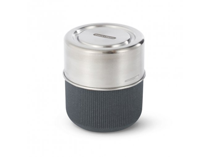 31754 31754 5 cestovni sada s vnitrni sklenenou miskou black blum glass lunch pot slate