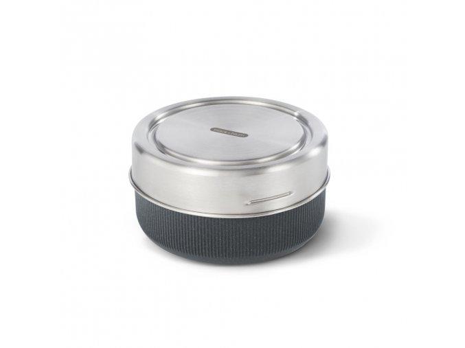 31742 31742 5 cestovni sada s vnitrni sklenenou miskou black blum glass lunch bowl slate