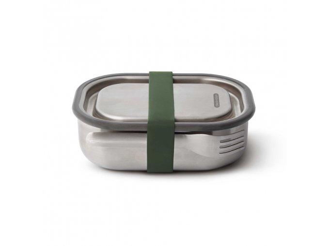 31253 3 31253 nerezovy black blum steel lunch box 600ml zeleny