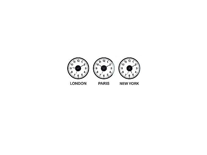 Sada hodin BALVI World Clock, šířka od 120cm