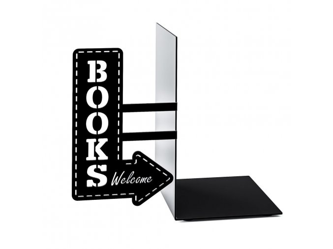 BALVI Knižní zarážka Bookshop, černá