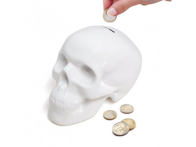 Kasička BALVI Skully, bílá