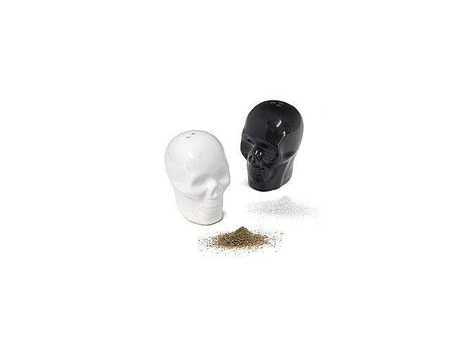 Slánka a pepřenka BALVI Skully, černá a bílá