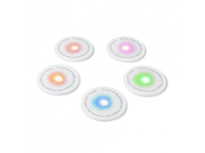 Svítící tácky pod sklenice BALVI UFOs, 5ks