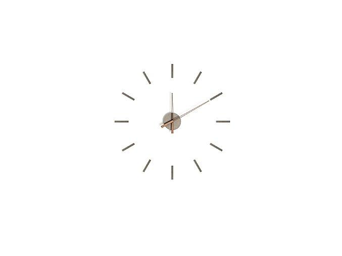 Samolepící nástěnné hodiny BALVI Stick Tack, šedé
