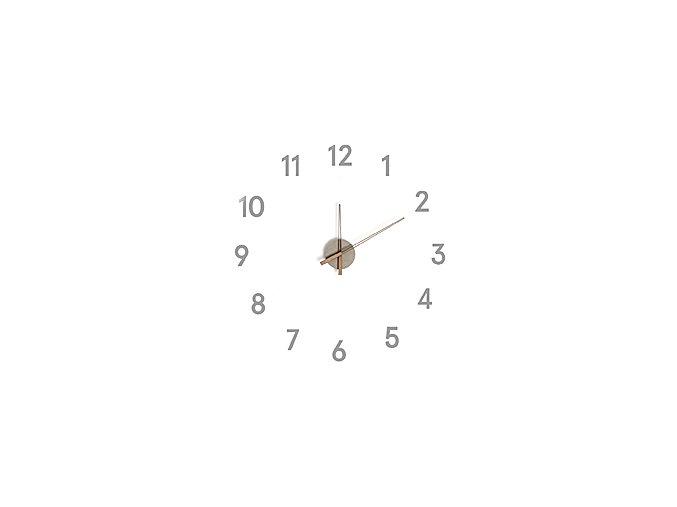 BALVI Samolepící nástěnné hodiny Momentum, šedé