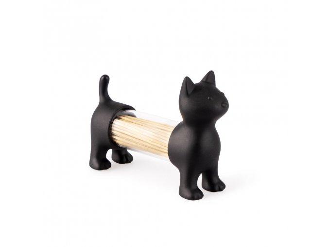 Stojánek na párátka / slánka / pepřenka BALVI Cat, černý