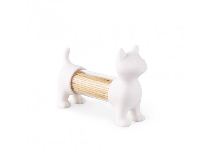 BALVI Stojánek na párátka / slánka / pepřenka Cat, bílý