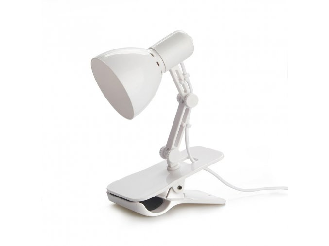 BALVI USB lampička s klipsem Clamp, bílá