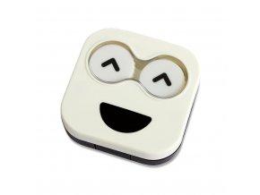 Pouzdro na čočky BALVI Emoji, bílé