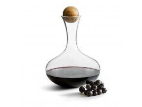 Karafa s dřevěnou kuličkou SAGAFORM Nature, červené víno, 2 L