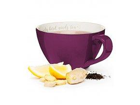 Šálek XXL SAGAFORM I love my tea, 0,7 L, fialový