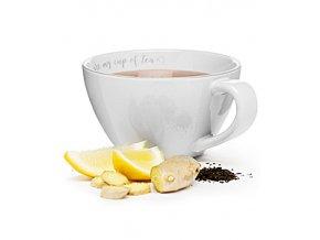 SAGAFORM Šálek XXL You are my cup of tea, 0,7 L, krémový