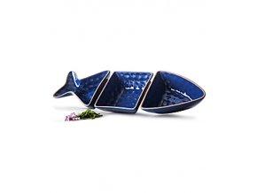 Servírovací sada misek SAGAFORM Fish, 3 ks, modré