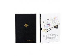 SUCK UK Cestovní deník My Travel Journal, černý