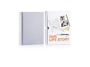 SUCK UK Společný deník Our Life Story, šedý