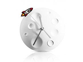 Hodiny SUCK UK Rocket Moon Clock, 20 cm