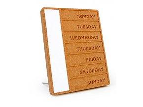 Plánovací tabule SUCK UK Cork Weekday Planner