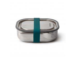 31250 3 31250 nerezovy black blum steel lunch box 600ml modry