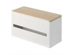 31049 31049 dvojity box na papirove kapesniky yamazaki rin 4766 bily