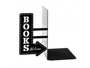 Knižní zarážka BALVI Bookshop, černá
