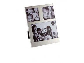 BALVI Fotorámeček Dijon, 1x 10 x 10 cm / 2x 7,7 x 7,7 cm, stříbrný