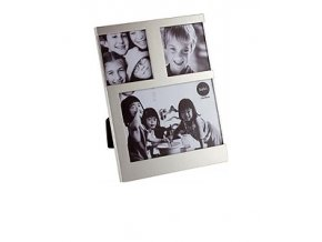 Fotorámeček BALVI Dijon, 1x 10 x 10 cm / 2x 7,7 x 7,7 cm, stříbrný