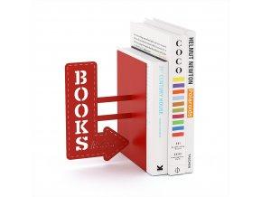 Knižní zarážka BALVI Bookshop, červená