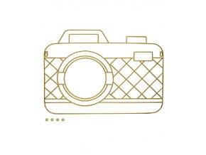 Držák fotografií s magnety BALVI Memory Cam, zlatý