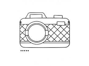 Držák fotografií s magnety BALVI Memory Cam, černý