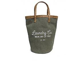 Koš na prádlo BALVI Vintage, zelený