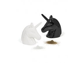BALVI Slánka a pepřenka Unicorn, černá a bílá